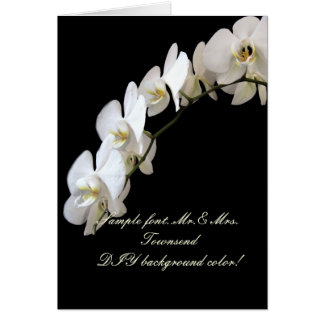 PixDezines White Orchid/DIY background color Greeting Card