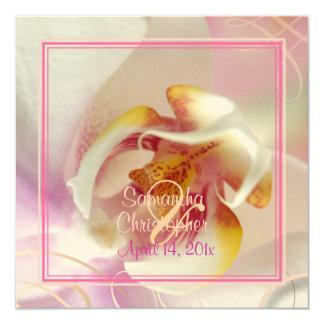 PixDezines White Orchid | Pale Pink + White Custom Invitations