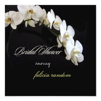 PixDezines White Orchids/Phalaenopsis/DIY events Invitation