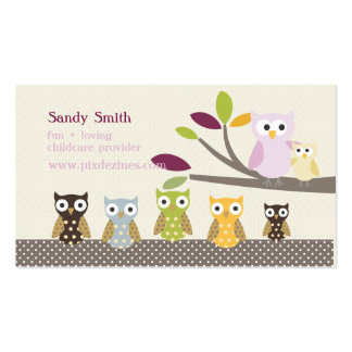 PixDezines Whoot's Daycare Business Cards