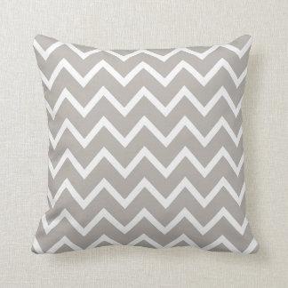 PixDezines whte chevron/diy color Throw Pillows