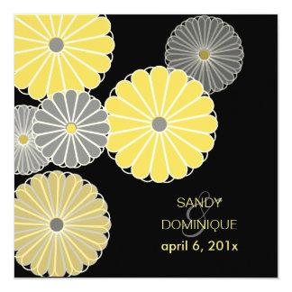 PixDezines Yellow Kiku (chrysanthemum) Card