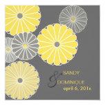 PixDezines Yellow Kiku (chrysanthemum) Invitation