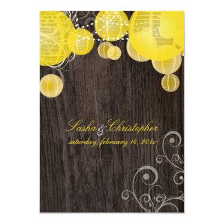 PixDezines yellow lanterns/outdoor wood panels Card