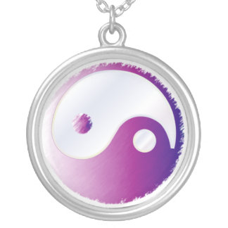 PixDezines Yin Yang, Fuschia Pendant