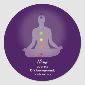 PixDezines Yoga Chakra/Meditation/DIY Background Classic Round Sticker