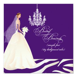 PixDezines zebra bridal brunch/DIY occasion+color Card