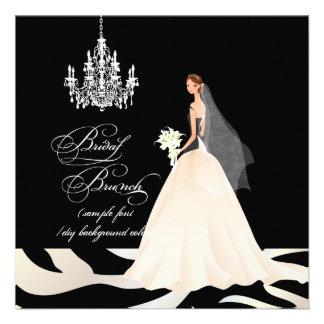 PixDezines zebra bridal brunch/DIY occasion+color Invite