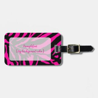 PixDezines zebra/diy background color Bag Tag