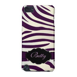 PixDezines Zebra Print/Monogram/DIY Color! iPod Touch 5G Cases