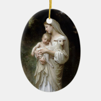 PixDezinves L'innocence by Bougeureau painting Christmas Tree Ornament