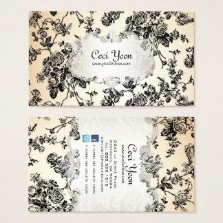 PixDezinves toile/black roses/DIY background Business Card