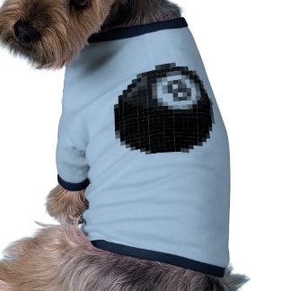 Pixel 8 ball dog t shirt