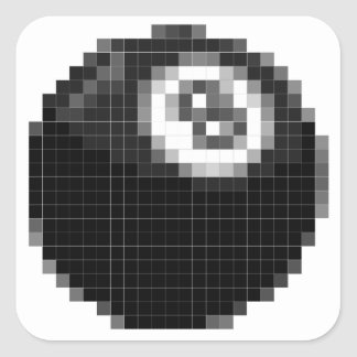 Pixel 8 ball square sticker