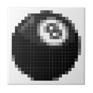 Pixel 8 ball ceramic tiles