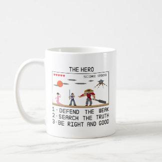 Pixel 8bit Samurai Hero Coffee Mug