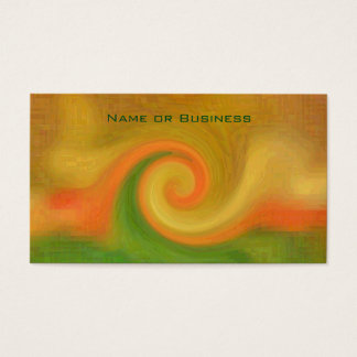 Pixel Abstract Autumn Swirl Business Card