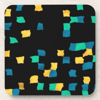 pixel abstracto posavasos de bebidas