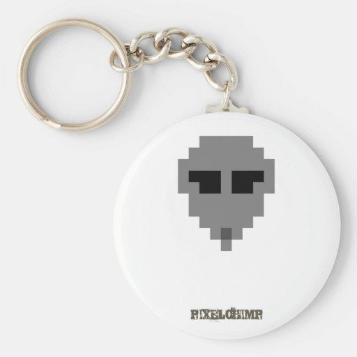 Pixel_Alien Llavero Redondo Tipo Pin