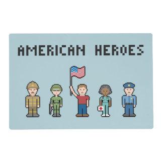 Pixel American Heroes Placemat