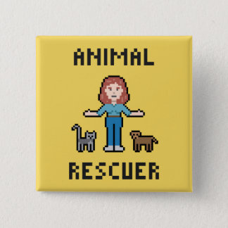 Pixel Animal Rescuer Button