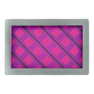 Pixel art background rectangular belt buckle