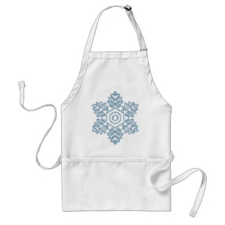 Pixel art Blue snowflake Adult Apron