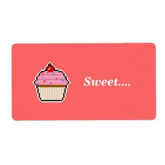 Pixel Art Cupcake Avery Label Shipping Label