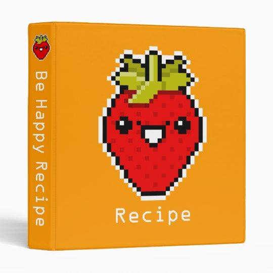 Pixel Art Cute Strawberry Avery Binder