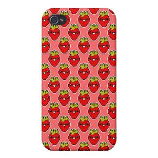 Pixel Art Cute Strawberry Speck Case iPhone 4 Cases