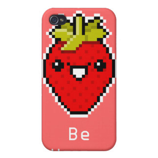 Pixel Art Cute Strawberry Speck Case Cases For iPhone 4