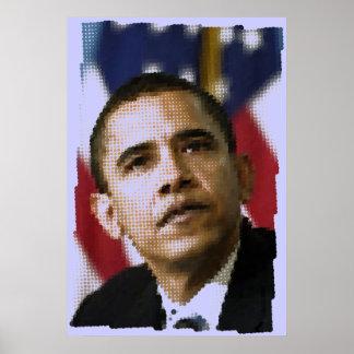 Pixel art (dots), Barack Obama Poster
