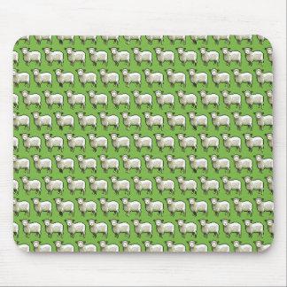 Pixel Art Flock of Sheep Pattern Mouse Pad