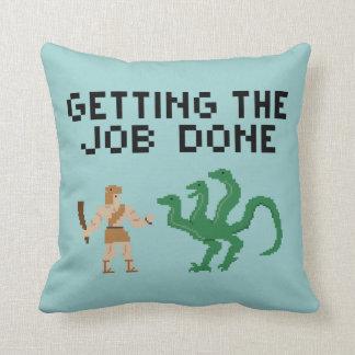 Pixel Art Heroic Scenes - Throw Pillow