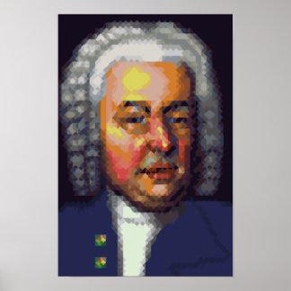 Pixel Art JS Bach poster