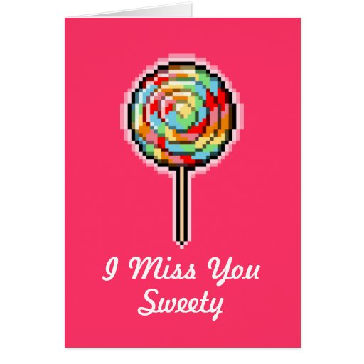 Pixel Art Lollipop Candy Card