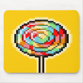 Pixel Art Lollipop Candy Mousepad