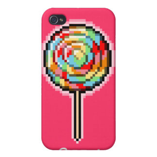 Pixel Art Lollipop Candy Speck Case