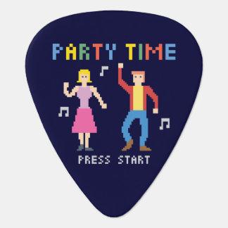 Pixel Art Party Time Guitar Pick
