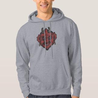 Pixel art: Red Indian Devil Hoodie