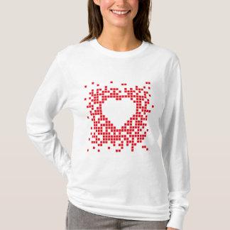 Pixel art red retro heart T-Shirt