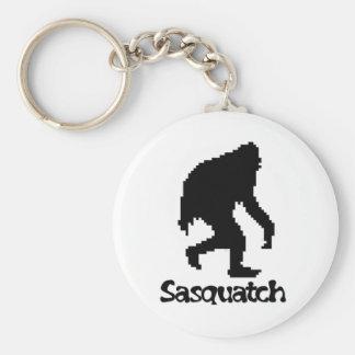 Pixel Art Sasquatch Basic Round Button Keychain