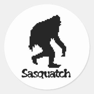 Pixel Art Sasquatch Classic Round Sticker