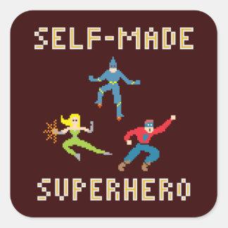 Pixel Art Superhero - Sticker