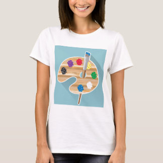 Pixel art Vector art Artists Palette T-Shirt