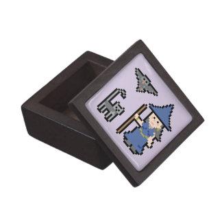 Pixel Art Witch Small Box Premium Jewelry Box