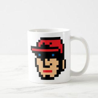Pixel Baseball Player Classic White Coffee Mug