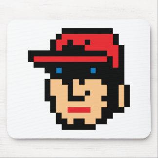 Pixel Baseball Player Mouse Pad