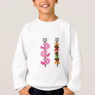 Pixel bbq food sweatshirt