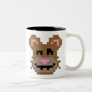 Pixel Bear Two-Tone Coffee Mug